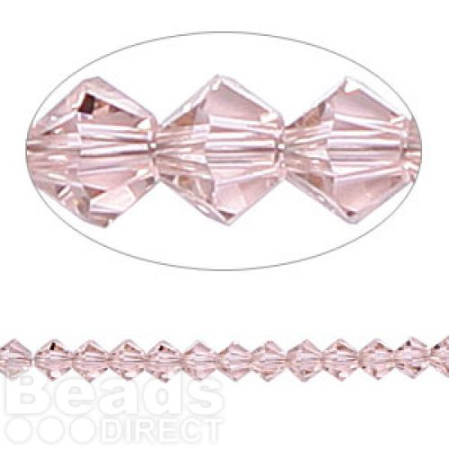 5328 Swarovski Crystal Bicones Xillion 4mm Vintage Rose Pk24