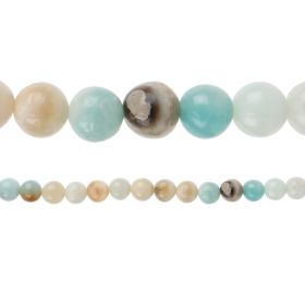 "X-Multi Colour Amazonite Semi Precious Round Beads 10mm 15"" Strand"