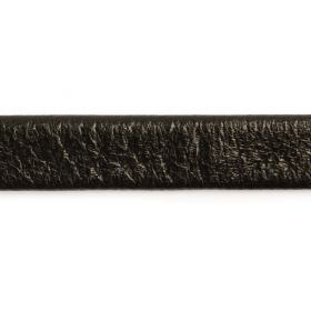 Black Flat Leather 10mm Sold in a 1m Length