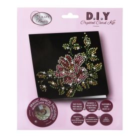 X-Beads Direct Flower & Leaves Black Crystal Card Kit