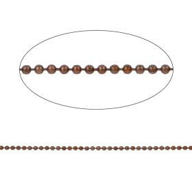 Chocolate Diamond Cut Ball Chain 2mm with x10 Clasps 1metres