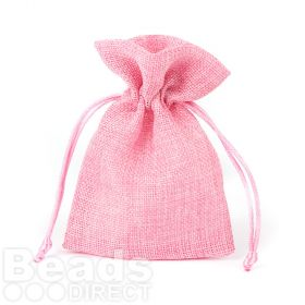 Pink Polyester Jewellery Pouch 100x140mm Pk1