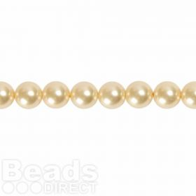 5810 Swarovski Glass Pearls 6mm Light Gold Pk50