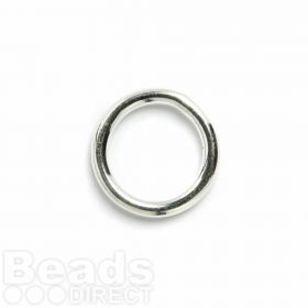 Silver Plated Soldered Rings 15mm Pk5