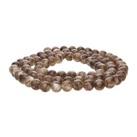 Candy™ / round / 6mm / brown / 145pcs
