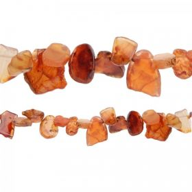 "Orange Dyed Agate Semi Precious Petal Beads 14x16-20-30mm 15"" Strand"