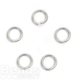 Titanium Plated 13mm Large Jump Rings Diamond Cut 2mm Thick Pk5