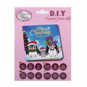 Beads Direct Penguin Family Crystal Card Kit