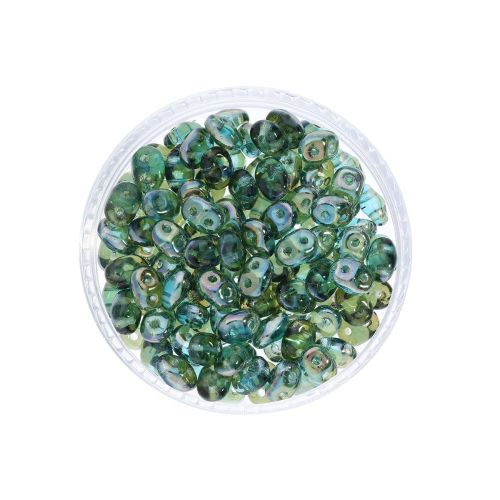 SuperDuo™ / glass beads / 2.5x5mm / Celsian / Aquamarine / 10g / ~140pcs