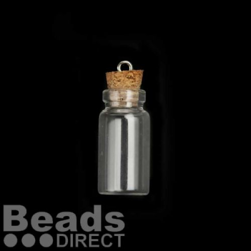 Glass Bottle With Cork 12x28mm Sold Singly