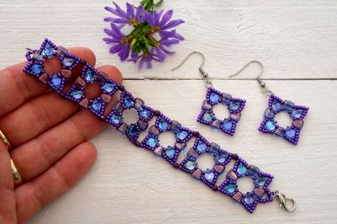 How to make a beaded jewellery set – beaded jewellery step by step