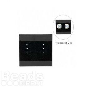 Earring Card Black 50x50mm Pk100