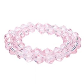 CrystaLove™ crystals / glass / bicone / 8mm / dark pink / transparent / 40pcs