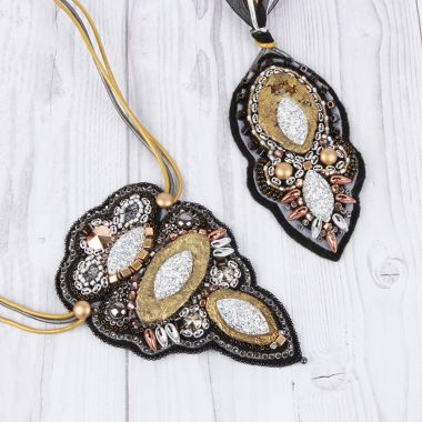 Sparkle Soutache Pendants