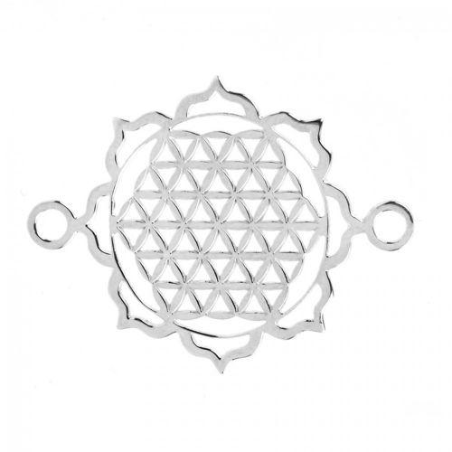 Sterling Silver 925 Filigree Criss Cross Connector 24mm Pk1