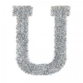 Swarovski Crystal Letter 'U' Self-Adhesive Fabric-It Transparent CAL Pk1