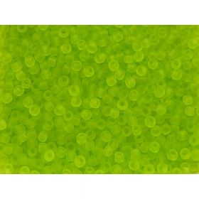 TOHO ™ / Round 11/0 / Transparent-Frosted / Lime Green / 10g / ~ 1100pcs