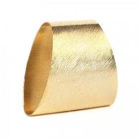 Gold Plated Brushed Large Tube Bead 40x20mm Pack 1