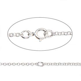 Sterling Silver 925 Connector Chain Necklace with Clasp Adjustable 35-41cm