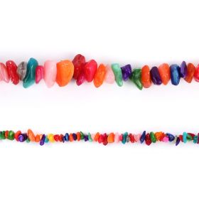 """Multi Colour Shell Chip Beads 4-8x10-14mm 33"""" Strand"""