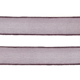 Purple Silk Crepe Ribbon 25mm 80cm Length