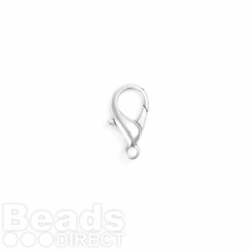 Antique Silver Lobster Clasp 10x18mm Pk2