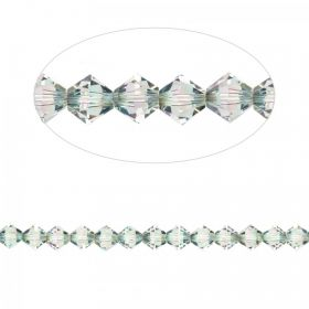 5328 Swarovski Crystal Bicones Xillion 6mm Crystal Paradise Shine Pk24