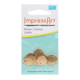 ImpressArt Brass Metal Stamping Blank Coin Tag 13mm (1.85mm Hole) Pk11