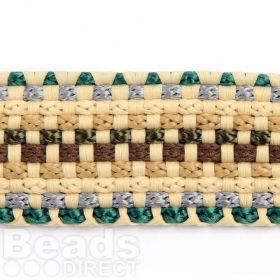 Multi Colour Beige Flat Knitted Cord 20mm Approx 1m