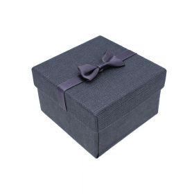 Gift box / bow and pillow / 9x9x6cm / graphite / 1pcs