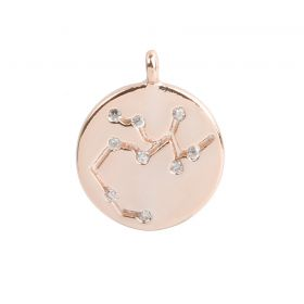 Rose Gold Plated Sagittarius Constellation Zodiac Charm 11mm Pk1
