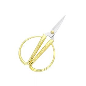Scissors / surgical steel / 12cm / gilded / 4cm blade / 1pcs