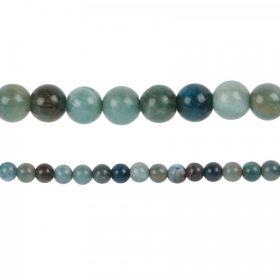 "Blue Apatite Semi Precious Round Beads 6mm 15"" Strand"