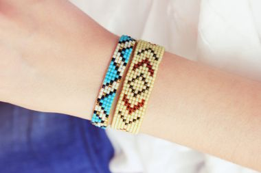 Beaded loom bracelet – Jewellery Making Tutorial