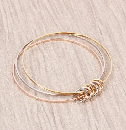 Clustered Hoop Bangle