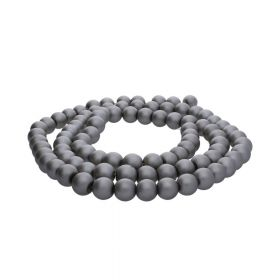 SeaStar™ satin / round / 8mm / grey / 120pcs