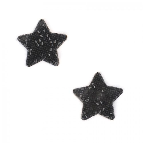 Swarovski Crystal Transfer Fine Rocks-It Self-Adhesive Small Star Jet Pk2
