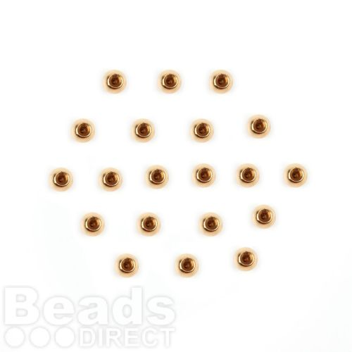 Gold Plated End Cap Bead Ends For Memory Wire 3mm Pk20