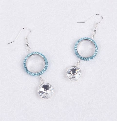 Crystal Aqua Earrings