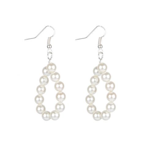 Heart and Pearl - Loop Earrings