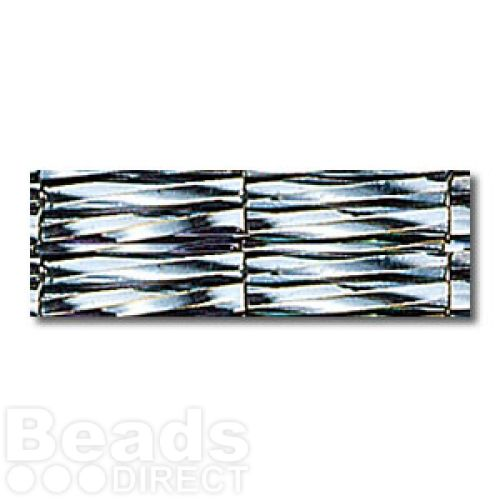 Miyuki Bugle Twisted Seed Beads 11mm Metallic Black 10g