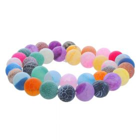 Weathered agate  / round / 12mm / multicoloured / 33pcs