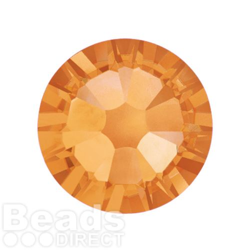 2088 Swarovski Crystal Flat Backs Non HF 7mm SS34 Topaz F Pk144