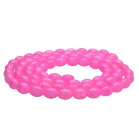 Mistic™ / oval / 10x8mm / neon pink / 75pcs