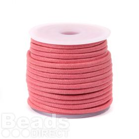 Salmon Pink Waxed Cotton Cord 2.5mm 10metres