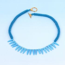 Turquoise Cubic Right Angle Thorn Necklace TAMB Kit