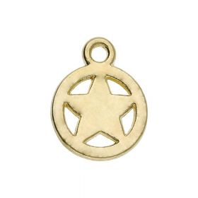 Star / charm pendant / 11x8.5x1.5mm / gold plated / 4pcs