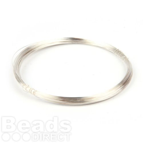 Silver Plated Copper Wire 0.2mm 25metre Coil