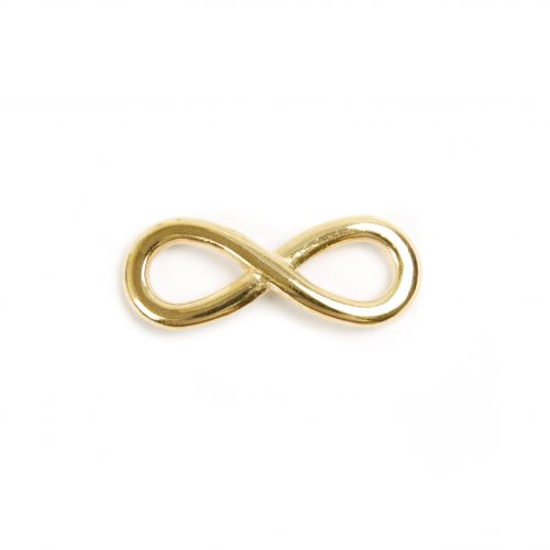 x Gold Plated Zamak Infinity Charm 12x30mm Pk2