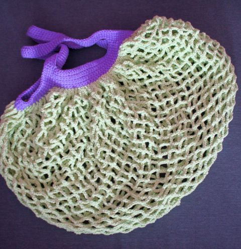 How to make a crochet mesh bag. A DIY French market bag